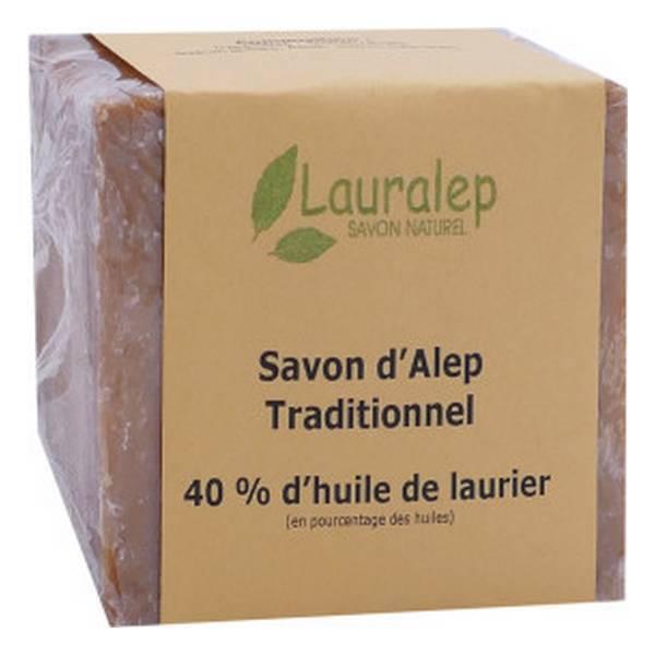 Lauralep - Savon d'Alep traditionnel 40% 200g