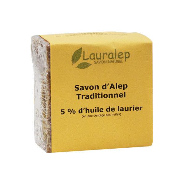 Lauralep - Savon d'Alep traditionnel 5% 200g