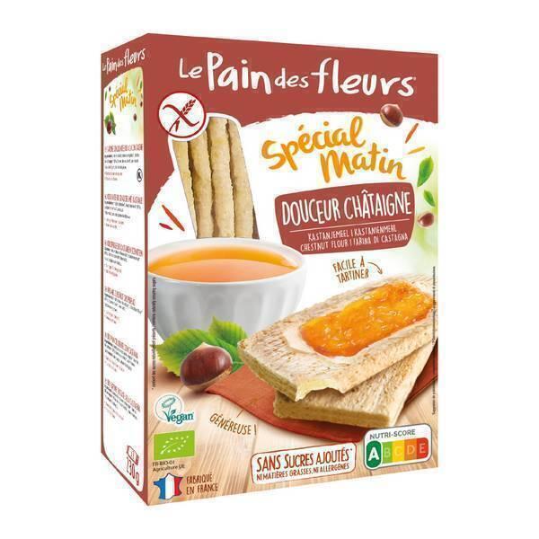 Le pain des fleurs - Tartines craquantes douceur châtaigne 230g