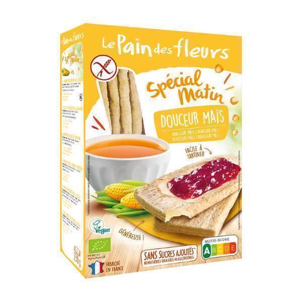 Le pain des fleurs - Tartines craquantes douceur maïs 230g