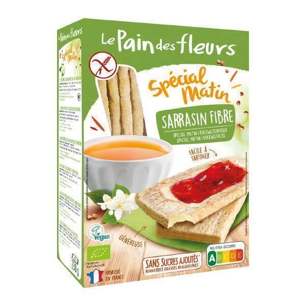 Le pain des fleurs - Tartines craquantes au sarrasin et fibres 230g