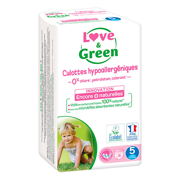 Love & Green - 18 Culottes apprentissage T5 Junior 12-18kg