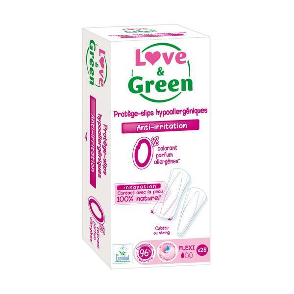 Love & Green - 3 x 28 Protège-slips flexi