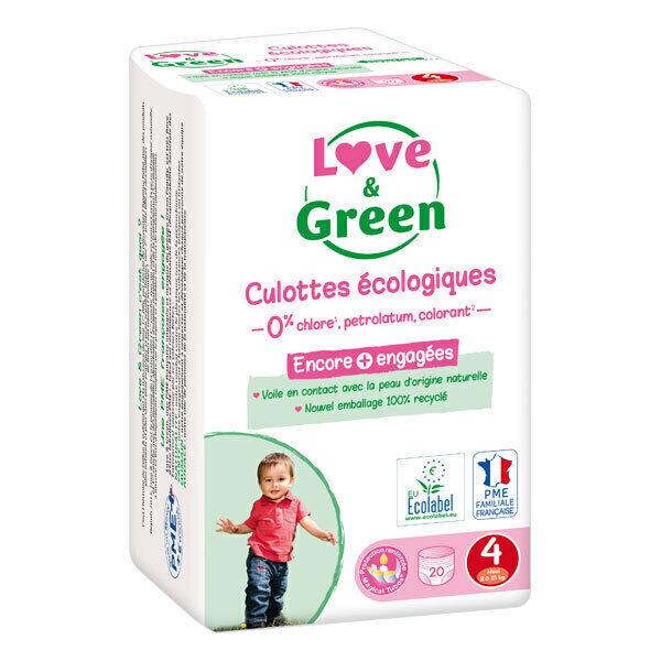 Love & Green - Pack 4 x 20 Culottes apprentissage T4 Maxi 8-15kg