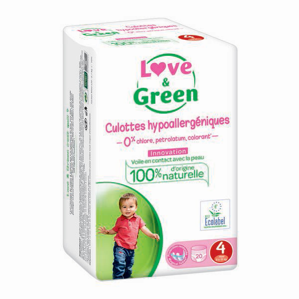 Love & Green - Pack 8 x 20 Culottes apprentissage T4 Maxi 8-15kg