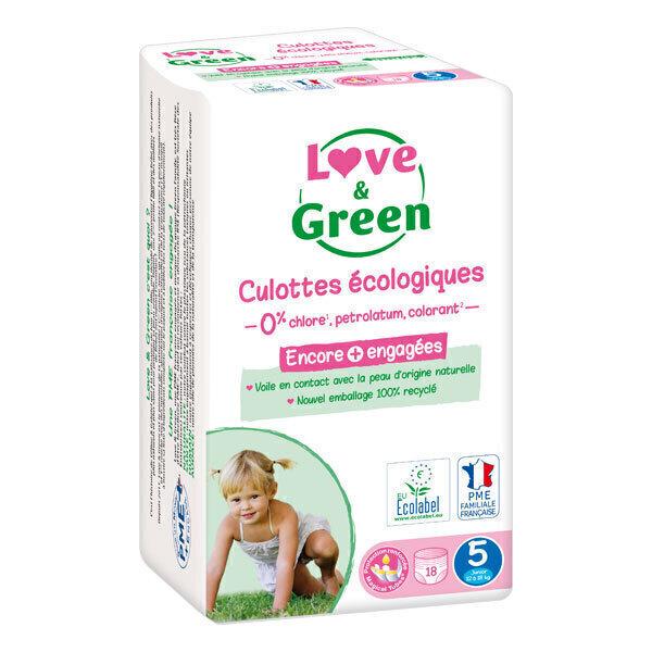 Love & Green - Pack 8x18 Culottes apprentissage T5 Junior 12-18kg