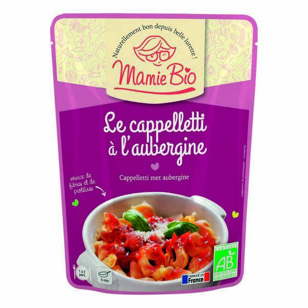 Mamie Bio - Cappelletti à l'aubergine 250g