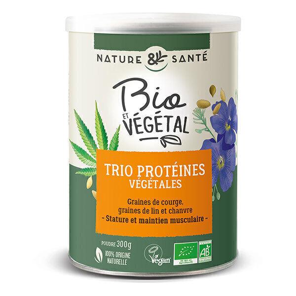 Nature & Santé - Trio de protéines végétales en poudre 300g