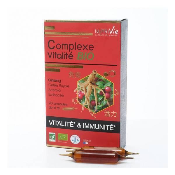 NutriVie - Cure complexe vitalité 20 ampoules