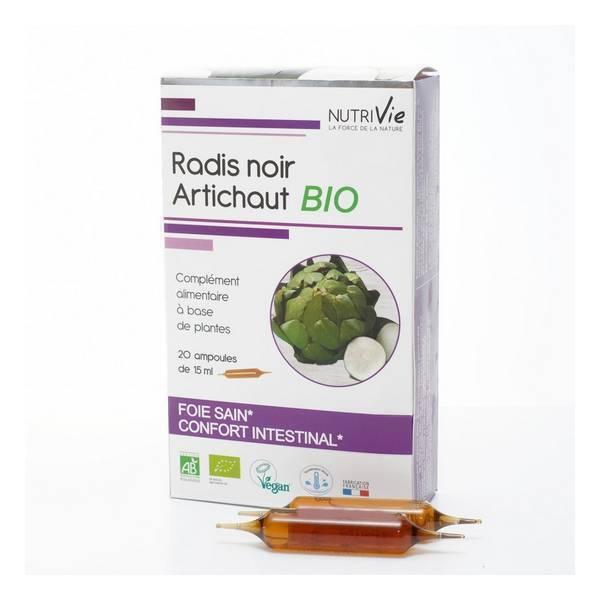 NutriVie - Cure radis noir-artichaut 20 ampoules