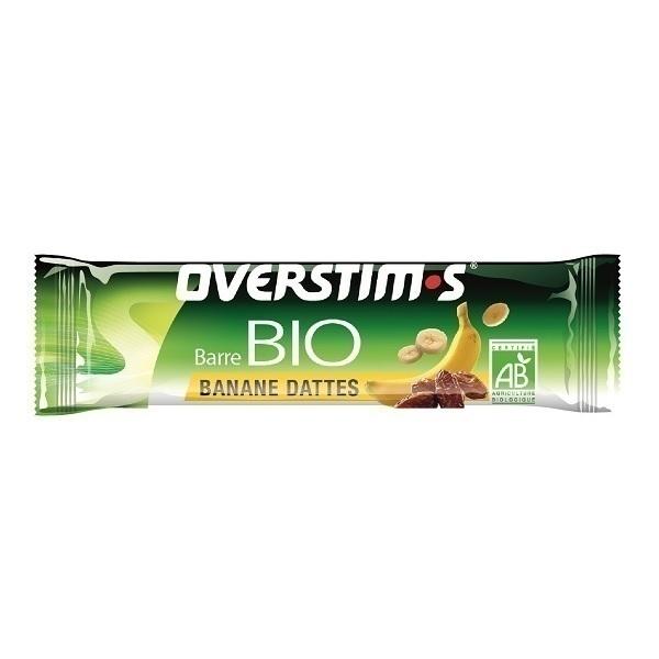 Overstims - Lot de 6 barres énergétiques bio sans gluten Banane Dattes