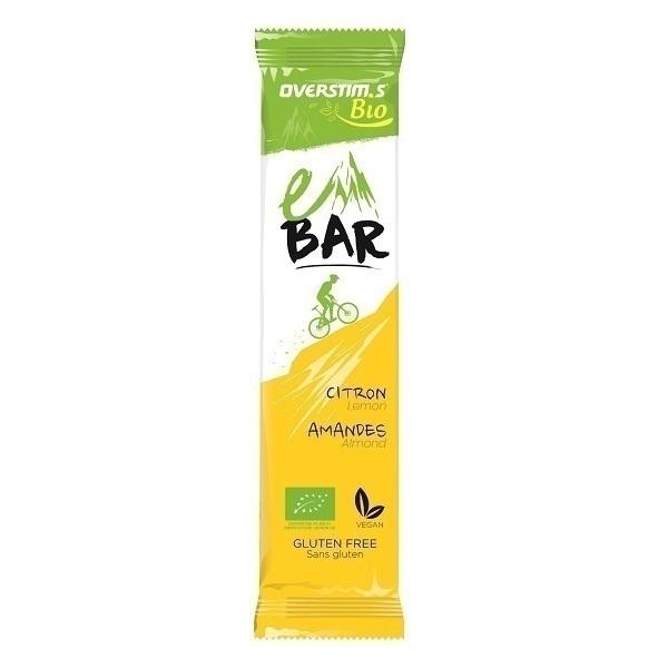 Overstims - Lot de 6 barres énergétiques e-Bar Bio Citron Amandes 32g