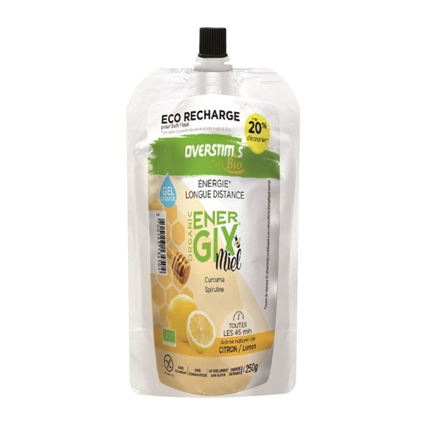 Overstims - Recharge gel endurance Energix miel Bio 250g