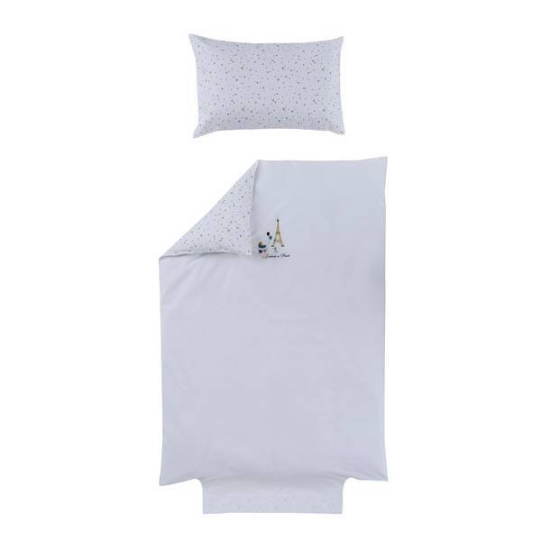 Ptit Basile - Parure de lit Little Paris blanc