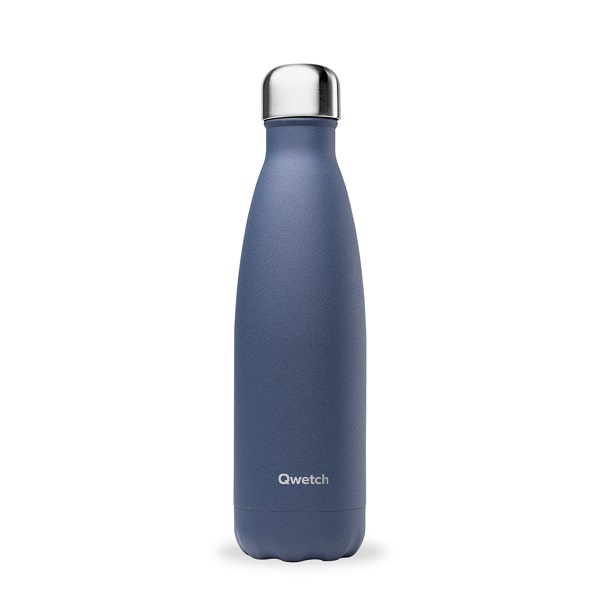 Qwetch - Bouteille isotherme inox Granite Bleu 50cl