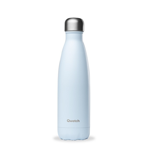 Qwetch - Bouteille isotherme inox Pastel Bleu 50cl