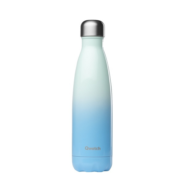 Qwetch - Bouteille isotherme inox Sky Bleu 50cl