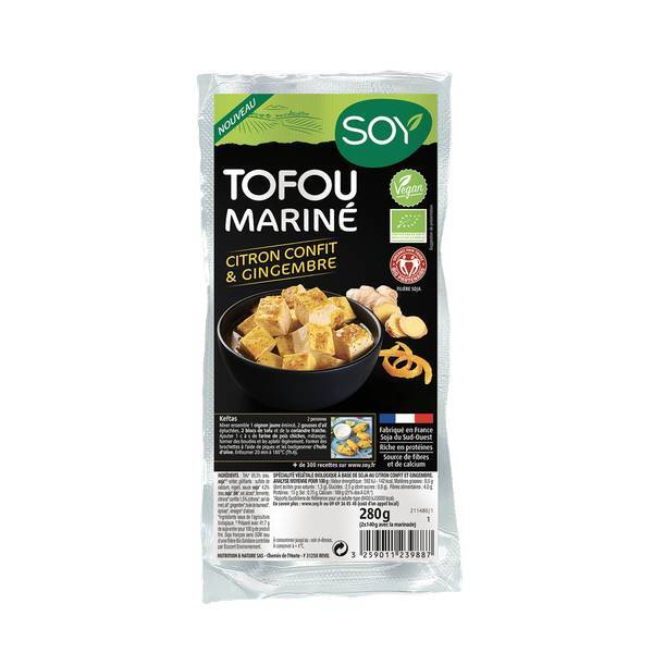 Soy (frais) - Tofu mariné citron gingembre 2x140g
