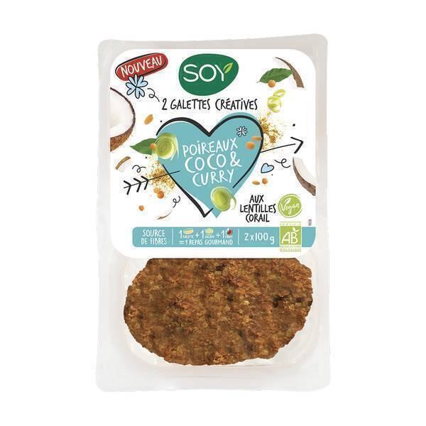 Soy (frais) - Galettes poireaux coco curry 2x100g