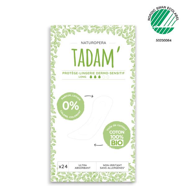 Tadam' - 3x24 Protège-Lingerie Long Non-Irritants au Coton BIO