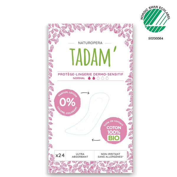 Tadam' - 3x24 Protège-Lingerie Normal Non-Irritants au Coton BIO