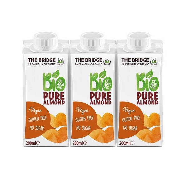 The Bridge - Boisson végétale Amande pure 3x200ml