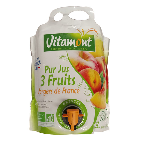 Vitamont - Pur jus 3 fruits du verger de France 3L