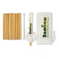 Bambaw - Set de 12 pailles en bambou 14cm
