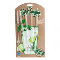 BarBaydos - Set de 4 pailles droites en verre 21cm