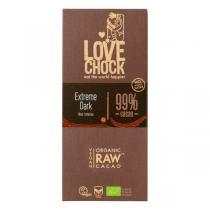 Lovechock - Tablette chocolat cru noir intense 99% Extreme dark 70g