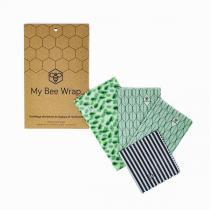 MyBeeWrap - Lot de 4 emballages réutilisables - Végétal