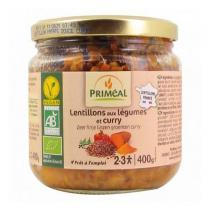 Priméal - Lentillons aux légumes et curry 400g