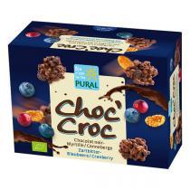 Pural - Choc'croc au chocolat noir et myrtilles 80g
