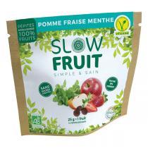 Slowfruit - Encas pépites de fruits Pomme Fraise Menthe 25g