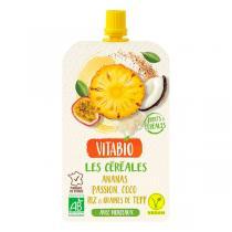 Vitabio - Gourde fruits et céréales - Ananas passion coco 120g
