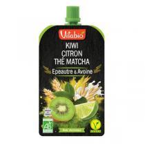 Vitabio - Gourde fruits et céréales - Kiwi, citron et thé matcha 120g