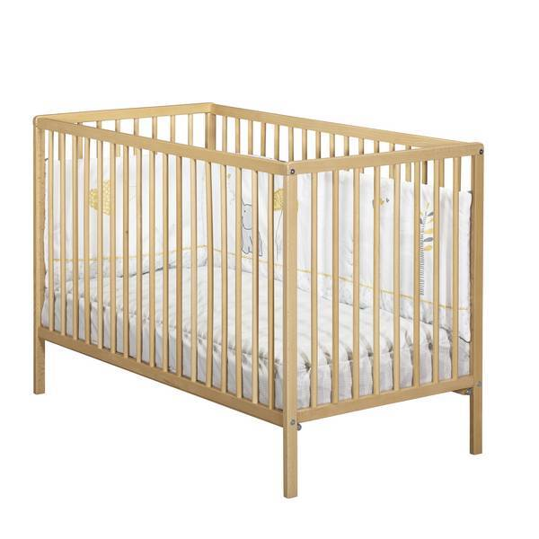 Baby Price - Lit bébé First Vernis naturel 120x60cm