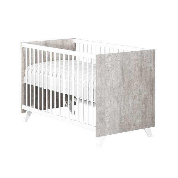 Baby Price - Lit bébé Scandi Gris 120x60cm