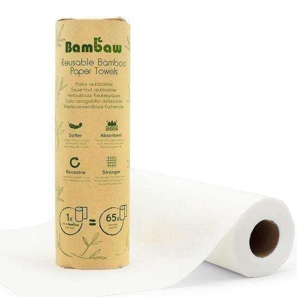Bambaw - Wasbaar keukenpapier op basis van bamboe - 20 vellen