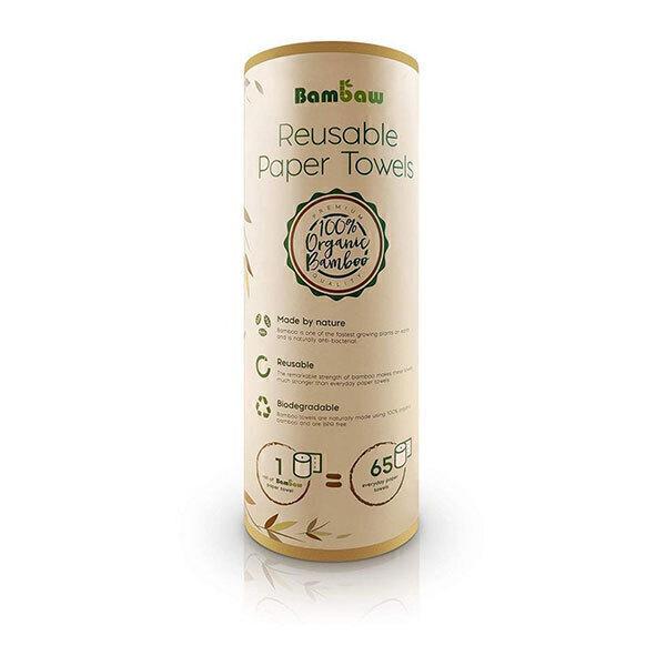 Bambaw - Essuie-tout lavable en bambou 20 feuilles