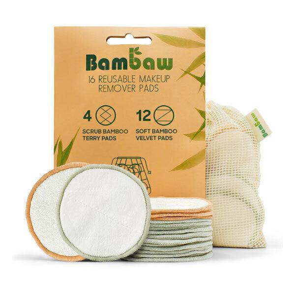 Bambaw - Lot de 16 disques démaquillants réutilisables