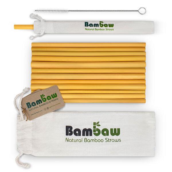 Bambaw - Set de 12 pailles en bambou 22cm