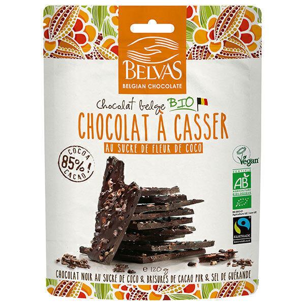 Belvas - Chocolat noir à casser 85% au sucre de coco 120g