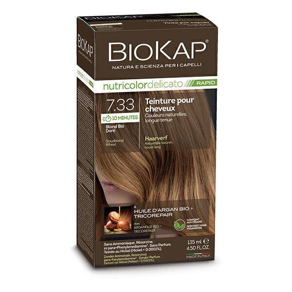 Biokap - Coloration Delicato Rapid 7.33 blond blé doré 135ml