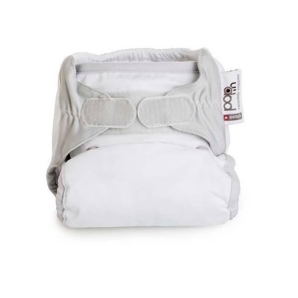 Close - Couche lavable Pop-in unie Blanche - 3,2 à 16 kg