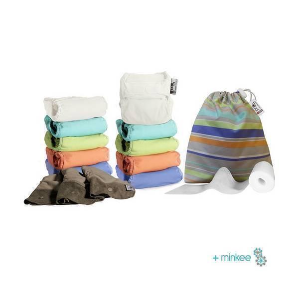 Close - Middle Box 10 Couche lavable Pop-in unies pastels - 3,2 à 16 kg