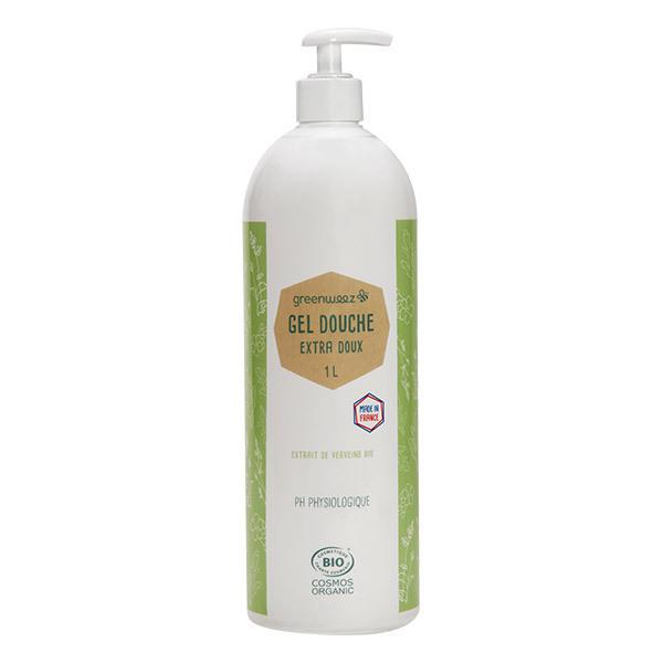Greenweez - Gel douche sans sulfate bio Verveine 1L