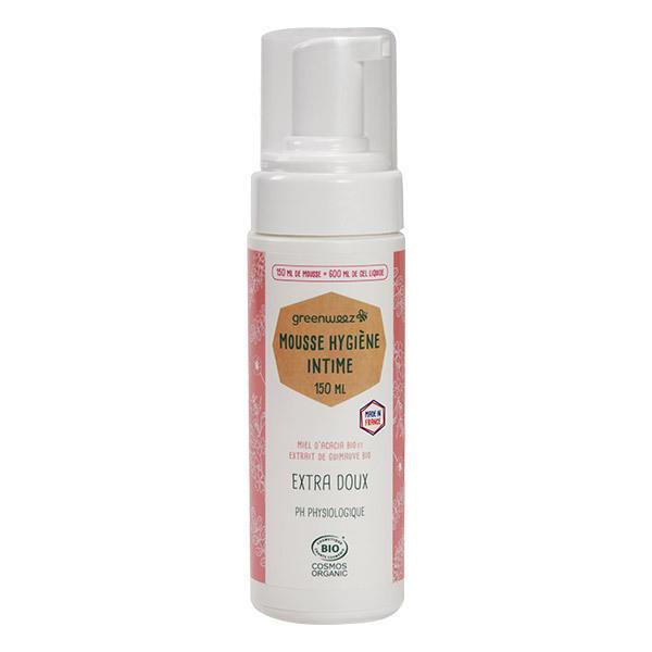 Greenweez - Mousse hygiène intime 150ml soit 600ml gel liquide