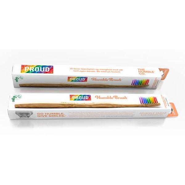 Humble brush - Brosse à dents adultes soft bambou Arc-en-ciel