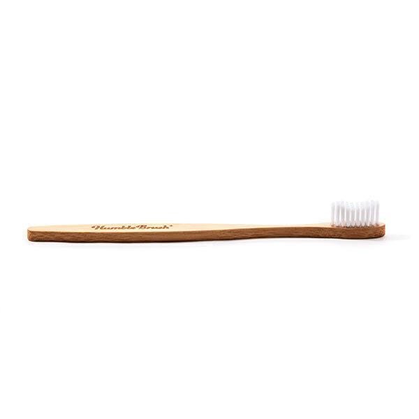 Humble brush - Brosse à dents adulte souple manche plat bambou Blanc